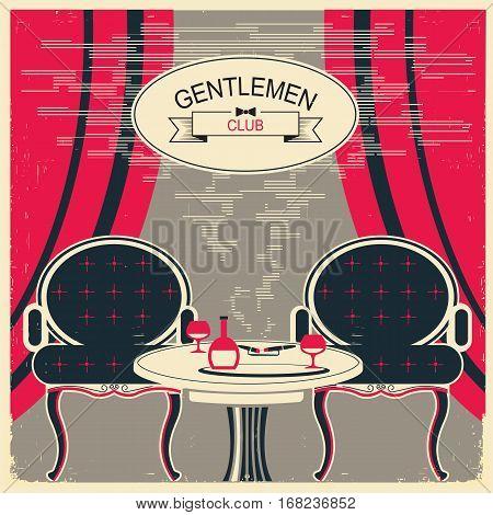 Gentlemen Club Illustration.