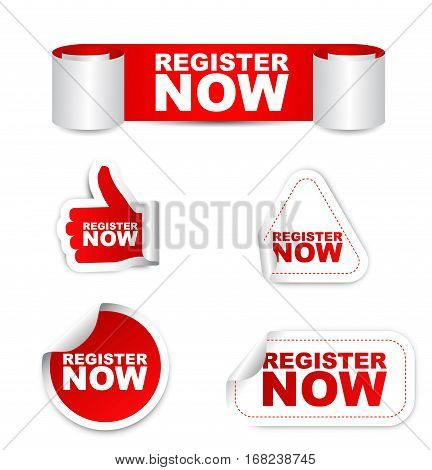 register register now sticker register now red sticker register now vector sticker register now set stickers register now register now eps10 design register now sign register now banner register now