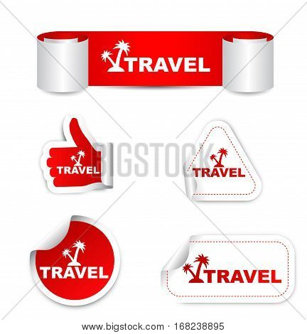 travel sticker travel red sticker travel red vector sticker travel set stickers travel travel eps10 sign travel design travel banner travel icon travel