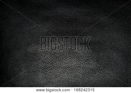 The background of the canvas of black leather