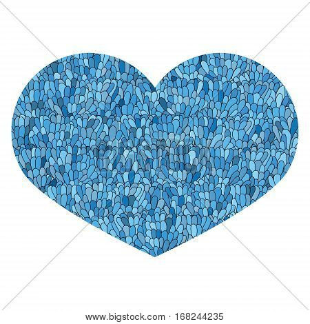 Hand Drawn Heart Isolated On White Background. Love Image. Doodl