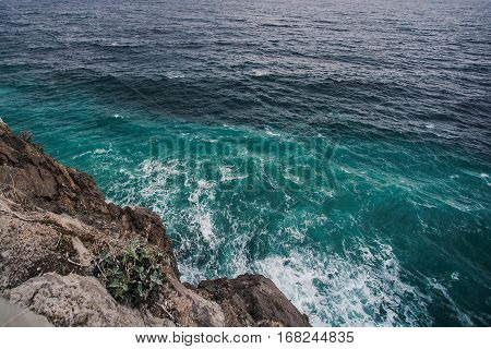 sea water and rocks in Crimea, Sea and rocks