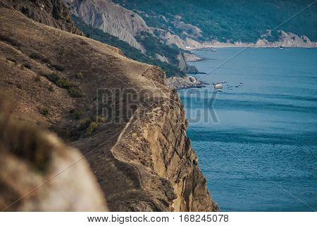 views of the sea in Crimea, sea and sky