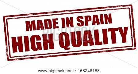 Stamp with text made in Spain High quality inside vector illustration