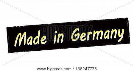 Stamp with text made in Germany inside vector illustration