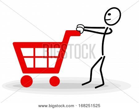 shopping illustration shopping vector shopping man buy human buy background shopping sign shopping man in shop icon shop vector design shopping