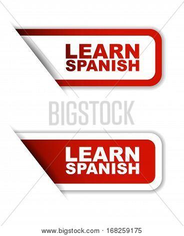 learn spanish sticker learn spanish red sticker learn spanish red vector sticker learn spanish set stickers learn spanish design learn spanish sign learn spanish learn spanish eps10