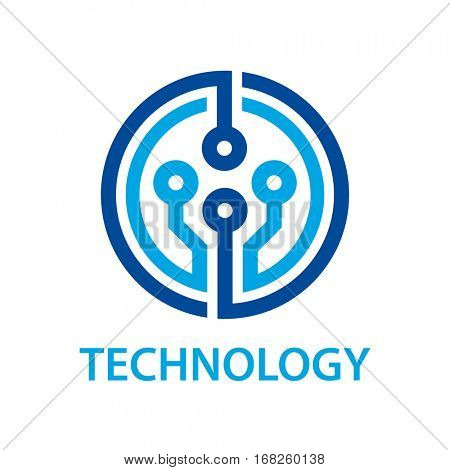 electronic circuit board technology symbol vector