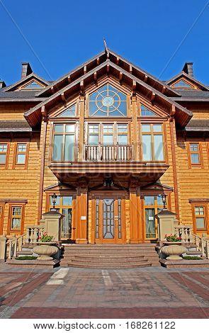KYIV, UKRAINE - SEPTEMBER 14, 2014: Mezhyhirya - former private residence of ex-president Yanukovich now open to the public, Kyiv region, Ukraine