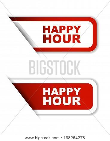 happy hour sticker happy hour red sticker happy hour red vector sticker happpy hour set stickers happy hour design happy hour sign happy hour happy hour eps10
