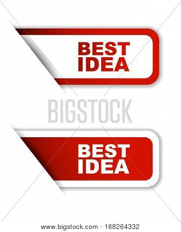best idea sticker best idea red sticker best idea red vector sticker best idea set stickers best idea design best idea sign best idea best idea eps10