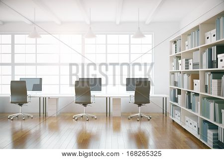 Coworking Office Interior Front