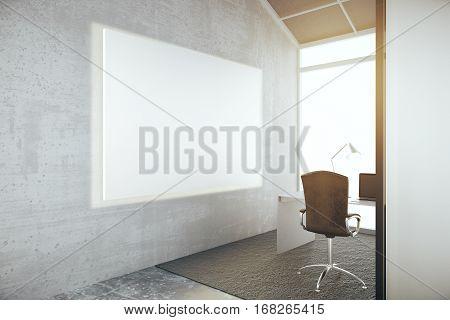 Blank Whiteboard In Office