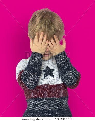 LIttle Boy Sad Depress Crying Fail Cover Face