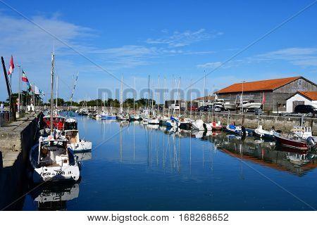 Ars en Re France - september 26 2016 : boats in the port