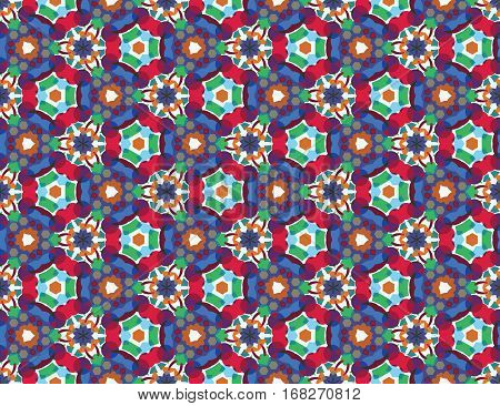 Color kaleidoscope background - the vector color illusration