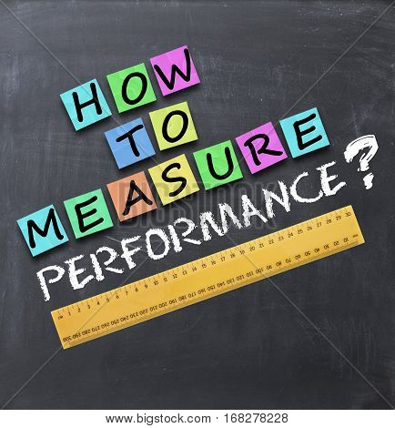 How to measure performance text on blackboard