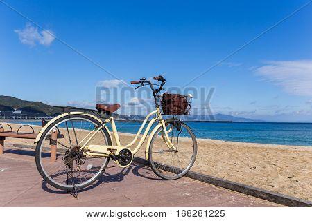 Bike with seaside