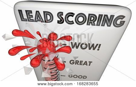 Lead Scoring Thermometer Customer Measurement 3d Illustration