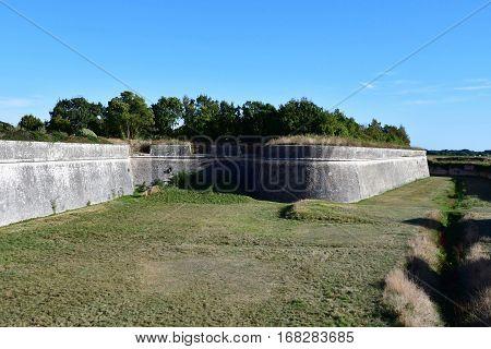 Saint Martin de Re France - september 26 2016 : the fortifications