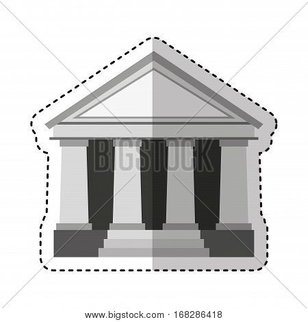 courthouse building isolated icon vector illustration design