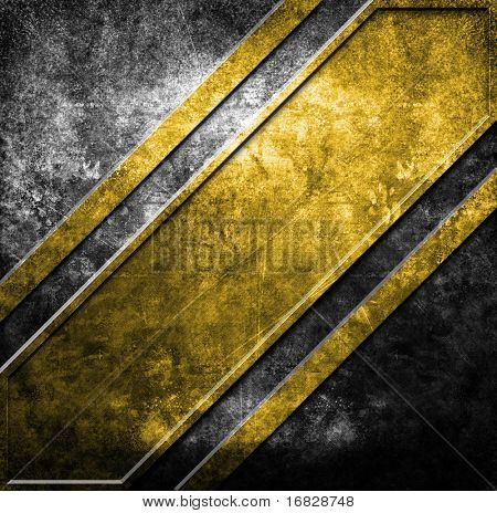 grunge metal template (in yellow and black colors)