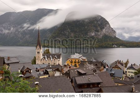 View Of Hallstatt Town, Austria
