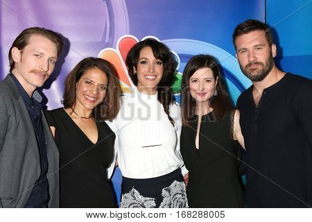 LOS ANGELES - JAN 18:  James Landry Hebert, Monique Gabriela Curnen, Jennifer Beals, Jennifer Marsala, Clive Standen at the NBC TCA Winter 2017 at Langham Hotel on January 18, 2017 in Pasadena, CA