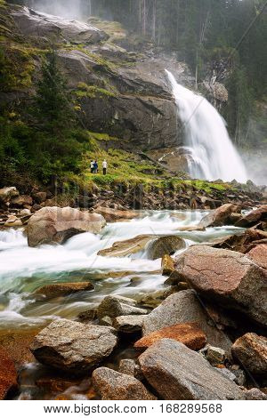 Krimmler Waterfall In Austria