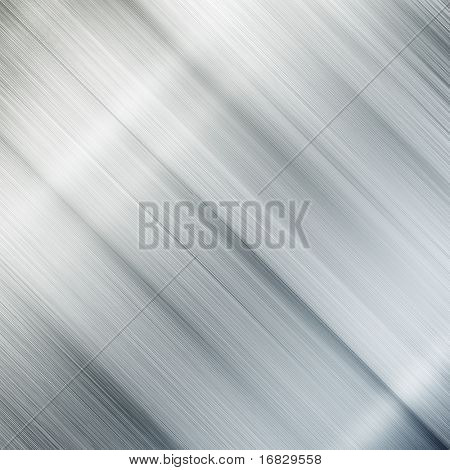 Polished silver metal plate