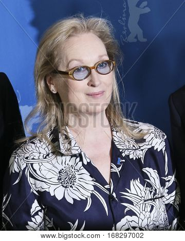 Meryl Streep  attends the International Jury photocall attends the Jury photo call during the 66th Berlinale Film Festival Berlin at Grand Hyatt Hotel on February 11, 2016 in Berlin, Germany.