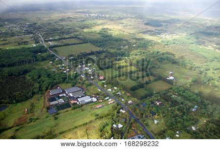 Aerial View Hawaii, Usa