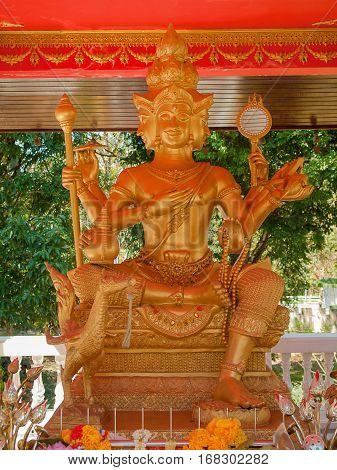 Brahma What worship in Nakhon Nayok Thailand