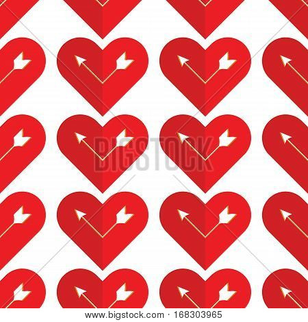 I love you. Abstract holiday pattern with a arrow in the heart. Valentines day concept