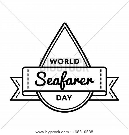 World Seafarer day emblem isolated vector illustration on white background. 25 june global professional holiday event label, greeting card decoration graphic element