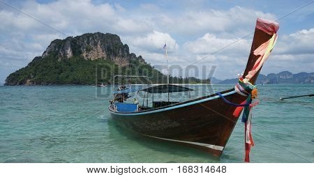 Long tailed boat in Krabi, Thailand