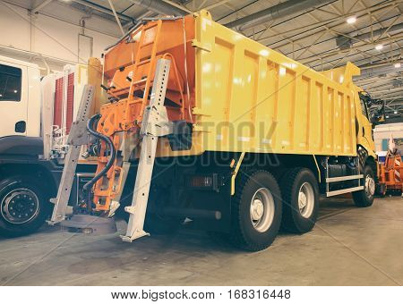 Communal machine for cleaning roads on exhibition