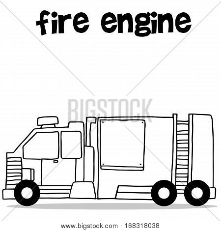 Transport of fire engine vector art collection stock