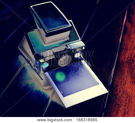 Negative Filter on Instant Camera with Film
