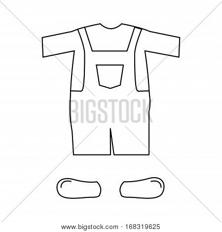 silhouette with male clothing pijama mameluke short vector illustration