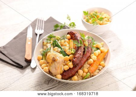 couscous with vegetable and meats