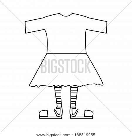 silhouette with female clothing pijama vector illustration