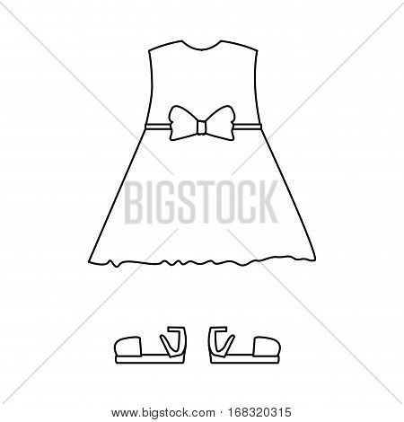 silhouette with female clothing pijama dress vector illustration