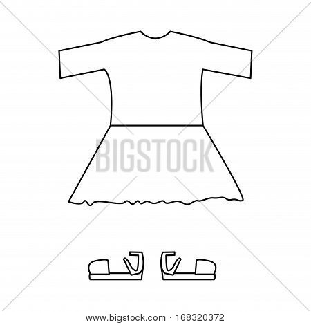 silhouette with girl clothing pijama with skirt vector illustration