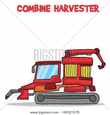 Cartoon combine harvester vector art collection stock