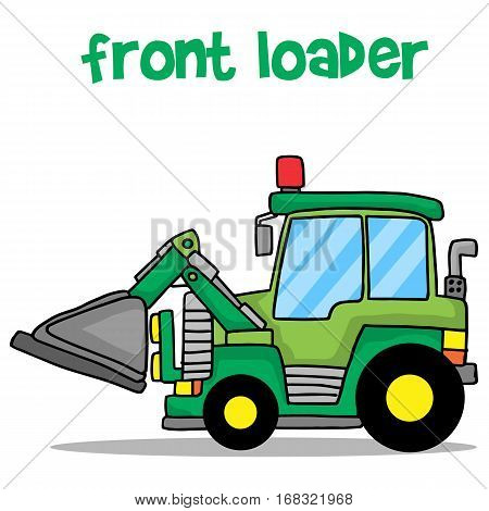 Cartoon front loader vector art collection stock