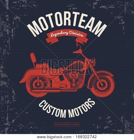 Motorcycle vintage graphics, Road Trip , t-shirt typography, Vintage. Vector Illustration