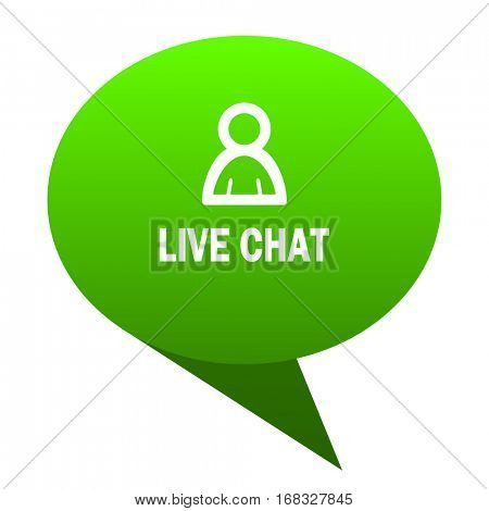 live chat green bubble web icon