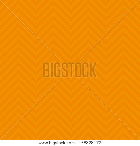 Orange Chevron Pixel art Pattern. White Neutral Seamless Pattern for Modern Design in Flat Style. Tileable Geometric Vector Background.