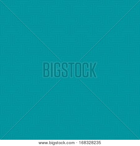 Turquoise Classic seamless pattern. Neutral tileable linear vector background.